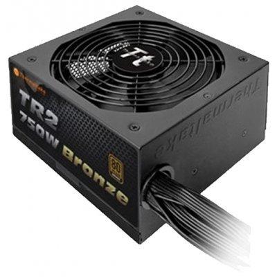 Блок питания ПК Thermaltake  ATX 750W TR-750PCBEU (TR-750PCBEU)Блоки питания ПК Thermaltake<br>ATX 750W TR-750PCBEU 80+ Bronze APFC, 120mm fan, flat Cab Manag RTL<br>
