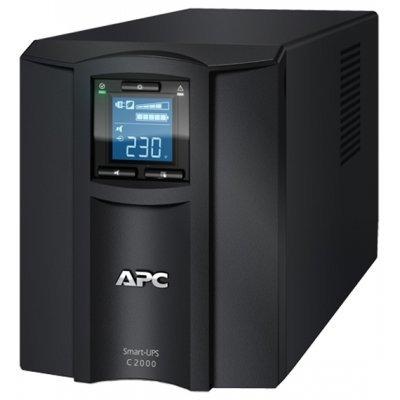 Источник бесперебойного питания APC Smart-UPS C 2000VA (SMC2000I)Источники бесперебойного питания APC<br>C 2000VA/1300W, 230V, Line-Interactive, LCD<br>