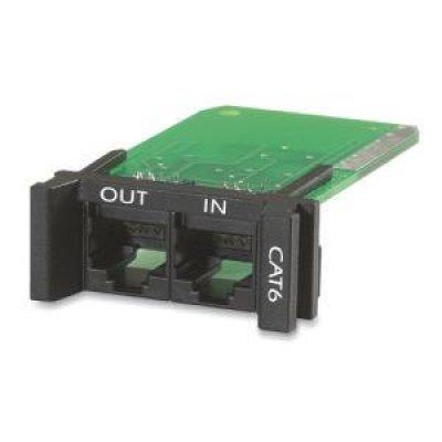 Модуль для ИБП APC PNETR6 (PNETR6)Модули для ИБП APC<br>управляемый блок распределения питания, который защищает порт передачи данных Ethernet от опасных кратковременных скачков напряжения REPLACEABLE, RACKMOUNT, 1U, CAT 6 NETWORK SURGE PROTECTION MODULE<br>