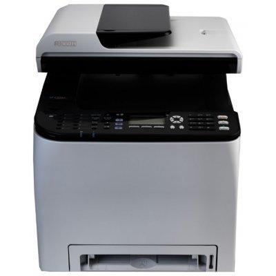 Цветной лазерное МФУ Ricoh Aficio SP C252SF (407526)Цветные лазерные МФУ Ricoh<br>МФУ (принтер, сканер, копир, факс) для среднего офиса 4-цветная лазерная печать до 20 стр/мин макс. формат печати A4 (210 297 мм) ЖК-панель двусторонняя печать<br>