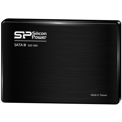 Накопитель SSD Silicon Power 120GB S60 SP120GBSS3S60S25 (SP120GBSS3S60S25)Накопители SSD Silicon Power <br>2.5, SATA III 7mm<br>