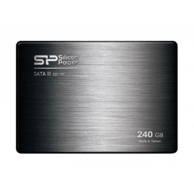 Накопитель SSD Silicon Power 240GB S60 SP240GBSS3S60S25 (SP240GBSS3S60S25)Накопители SSD Silicon Power <br>2.5, SATA III 7mm<br>