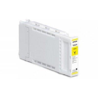 Картридж для струйных аппаратов Epson T6924 для SureColor SC-T3000/T5000/T7000 (Yellow) 110ml (C13T692400)Картриджи для струйных аппаратов Epson<br>Epson предлагает полный модельный ряд картриджей, совместимых со струйными принтерами этой компании. Оригинальные картиджи Epson обеспечат отличное качество отпечатков, устойчивых к смазыванию и выцветанию. Использование оригинальных картриджей продлевает работу вашего принтера. Настоящие картриджи  ...<br>