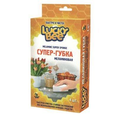 Губка меламиновая Lucky Bee LB 7202 4шт (LB 7202)Губки для уборки Lucky Bee<br>Модель: LB 7202<br>Применение: лакокрасочное покрытие кузова,стёкла,зеркала,панель приборов,пластик,кожа,ткань,велюр,дерево,керамика<br>Вид: губка<br>Объём (г / мл): 4<br>