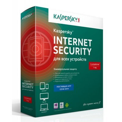 Антивирус Kaspersky Internet Security 3-Device Box KL1941RBCFS (KL1941RBCFS)