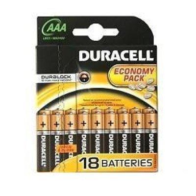Батарейка Duracell Basic LR03-18BL AAA (LR03-18BL), арт: 187465 -  Аккумуляторные батарейки ААА Duracell