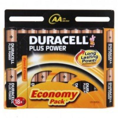 Батарейка Duracell Basic LR6-18BL AA (LR6-18BL)Аккумуляторные батарейки ААА Duracell<br>18 шт.<br>