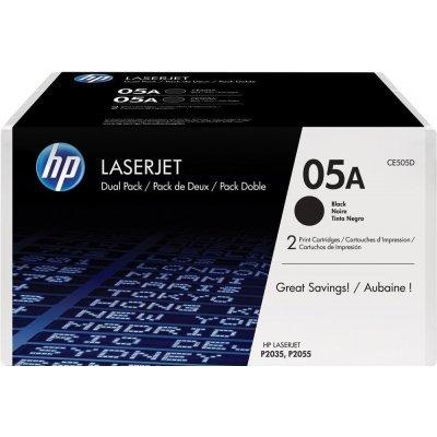 Тонер-картридж для лазерных аппаратов HP CE505D черный двойная упаковка (CE505D)Тонер-картриджи для лазерных аппаратов HP<br>HP CE505D - необходимый расходный материал для LaserJet P2035 и P2055. Он восстановит высокое качество печати и прослужит вам максимально долго. Советуем приобрести сразу несколько экземпляров, чтобы не тратить время в будущем на повторный заказ и ожидание товара, когда ресурс предыдущей покупки под ...<br>
