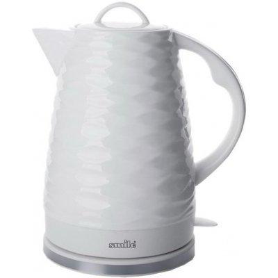 Электрический чайник Smile WK 5401 белый с волной (WK 5401 (бел.с волн))Электрические чайники Smile <br>Электрический чайник Smile WK 5401 является прекрасным решением для тех, кто любит устраивать себе перерывы в работе на чашечку чая или кофе. Он прост в управлении и долговечен в использовании. Чайник автоматически выключается при закипании.<br>