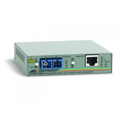 Медиаконвертер Allied Telesis Media Converter 100BaseTX to 100BaseFX (SC Singlemode 15km) (AT-MC103XL-YY)