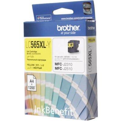 Картридж Brother LC-565XLY для MFCJ2310/2510/3520/3720 желтый (1200стр) (LC565XLY)Картриджи для струйных аппаратов Brother<br>Brother LC565XLY - необходимый расходный материал для вашей оргтехники. Он восстановит высокое качество печати и прослужит вам максимально долго. Советуем приобрести сразу несколько картриджей, чтобы не тратить время в будущем на повторный заказ и ожидание товара, когда ресурс предыдущей покупки под ...<br>