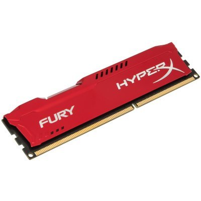 Модуль оперативной памяти ПК Kingston DDR3 8Gb Kingston (PC-12800) 1600MHz HyperX Fury Red Series CL10 (HX316C10FR/8)