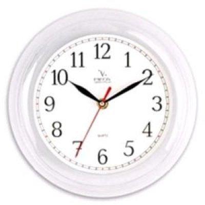 Часы настенные Вега П 6-7-98 (П 6-7-98)Часы настенные Вега <br>класика белые арабские  П 6-7-98<br>