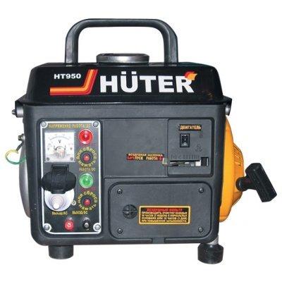 Электростанция Huter HT950A (HT950A)Электростанции Huter<br>бензиновая электростанция<br>    однофазная (220 вольт)<br>    мощность 650 Вт, максимальная 950 Вт<br>    выход 12 В<br>    запуск ручной<br>    двигатель Huter HT950 1E45F<br>    вес 20 кг<br>