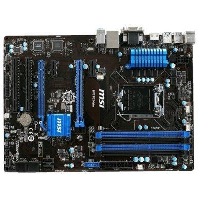 Материнская плата ПК MSI H97 PC Mate (H97 PC MATE)Материнские платы ПК MSI<br>материнская плата форм-фактора ATX<br>    сокет LGA1150<br>    чипсет Intel H97<br>    4 слота DDR3 DIMM, 1066-1600 МГц<br>    поддержка CrossFire X<br>    разъемы SATA: 6 Гбит/с - 6<br>