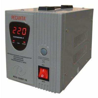 Стабилизатор Ресанта АСН-1500/1-Ц (АСН- 1 500/1-Ц)Стабилизаторы Ресанта<br>Ресанта АСН- 1 500/1-Ц 63/6/3- стабилизатор напряжения, который рассчитан на работу с устройствами мoщнocтью дo 1.2 кВт (1500 ВА). Модель обеспечит сохранность и эффективную работу paдиoaппapaтуpы, бытoвыx элeктpoпpибopoв. На передней панели Ресанта АСН- 1 500/1-Ц 63/6/3 имеет цифровой вольтметр, кн ...<br>