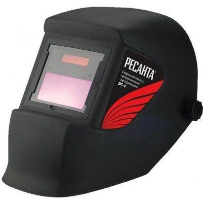 Сварочная маска Ресанта МС-4 (МС-4)Сварочные маски Ресанта<br>Маска сварщика Ресанта МС-4 используется во время сварки для защиты лица и глаз от ультрафиолетового излучения, резко-яркого света и брызг расплавленного металла.<br>