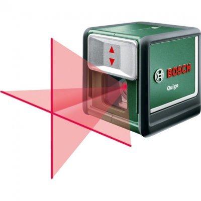 Нивелир Bosch Лазерный QUIGO II (0603663220)Нивелиры Bosch<br>Небольшой и компактный<br>Легкий в применении<br>Привлекательный дизайн, без сложных технических приспособлений, функций<br>Точное нивелирование без слишком сложных настроек<br>Очень хорошая видимость лазерных лучей, возможность установки лучей под наклоном<br>Наиболее легкий в применении и наиболее<br>Удобный лазерн ...<br>