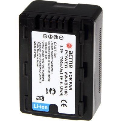 Аккумулятор ACME POWER AP-VBK-180 для PANASONIC (AP-VBK-180)Аккумуляторы для фотоаппарата AcmePower<br>Для фотоаппарата (3.6V, 1700 mAh, Li-ion)<br>