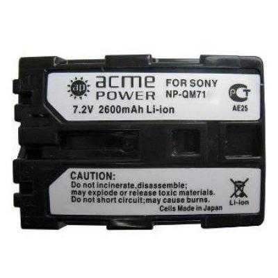 Аккумулятор для фотоаппарата SONY ACME POWER AP-NP-QM71 (AP-NP-QM71)