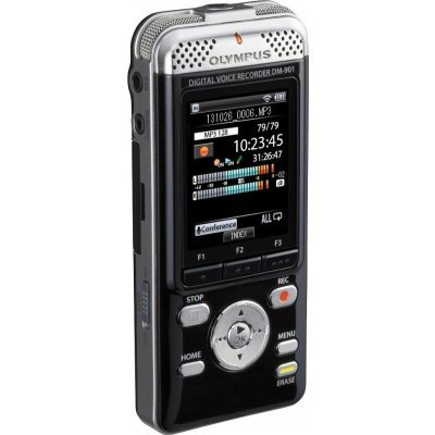 Цифровой диктофон Olympus DM-901 4Gb Black (DM-901)Цифровые диктофоны Olympus<br>Olympus ОМ-901 - Современный дизайн. Улучшенная функциональность. Специальное приложение для смартфона позволит осуществлять запись дистанционно. Теперь качество записи станет намного лучше, так как диктофон можно положить близко к спикеру. Загрузите аудиофайлы с диктофона на смартфон. Возможности у ...<br>
