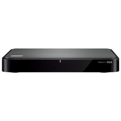 Сетевой накопитель NAS Qnap HS-251 (HS-251)Сетевые накопители NAS Qnap<br>Cетевой RAID-накопитель, 2 отcека для HDD, пассивное охлаждение, HDMI-порт. Intel Celeron J1800 2,41 ГГц<br>