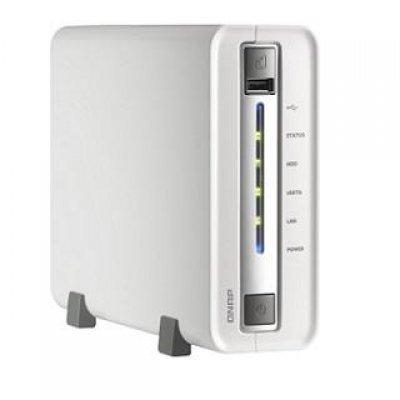 Сетевой накопитель NAS Qnap TS-112P (TS-112P)Сетевые накопители NAS Qnap<br>QNAP TS-112P - сетевой NAS-накопитель, оперативная память 512 Мбайт (DDR3), дисковое пространство: 1 x 3.5 HDD с интерфейсом SATA I или SATA II, слоты для HDD: 1 x слот, емкость хранилища: 4 ТБ, сетевые интерфейсы: 1 x RJ-45, гигабитный Ethernet, USB: 3 x USB 3.0 (сзади), 1 x USB 2.0 (спереди)<br>