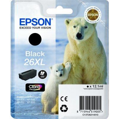 Картридж C13T26214010 black для Expression Premium XP-70 (500стр.) (C13T26214010)Картриджи для струйных аппаратов Epson<br>Epson C13T26214010 - необходимый расходный материал для вашей оргтехники. Он восстановит высокое качество печати и прослужит вам максимально долго. Советуем приобрести сразу несколько картриджей, чтобы не тратить время в будущем на повторный заказ и ожидание товара, когда ресурс предыдущей покупки п ...<br>