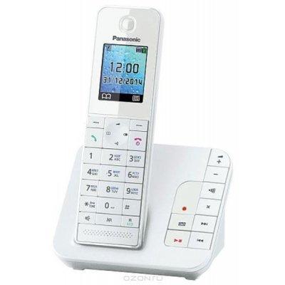 Радиотелефон Panasonic KX-TGH220RUW (KX-TGH220RUW)Радиотелефоны Panasonic<br>Panasonic KX-TGH220 выполнен в строгом стильном дизайне. Новинка позволяет за считанные секунды выбрать номер в адресной книге или списке вызовов. Данная модель имеет функцию «Радионяни».<br>