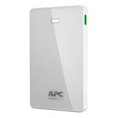 Внешний аккумулятор для портативных устройств APC 10000mAh Li-polymer, White M10WH-EC (M10WH-EC) внешний аккумулятор apc mobile power pack 5000mah li polymer white m5wh ec