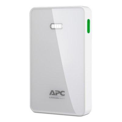 Внешний аккумулятор для портативных устройств APC 5000mAh Li-polymer, White M5WH-EC (M5WH-EC) внешний аккумулятор apc mobile power pack 5000mah li polymer white m5wh ec