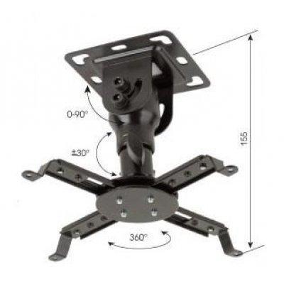 Кронштейн для проекторов Kromax PROJECTOR-10 для проекторов (20146)Кронштейны для проекторов Kromax<br>Потолочный кронштейн для проекторов Projector-10. Отличается высокой функциональностью, прочность и элегантность.Расстояние от потолка до проектора 155 мм. Максимальный угол наклона 90 градусов. 3 стороны наклона. Возможный угол поворота 360 градусов. Максимальный вес оборудования: 20 кг.<br>