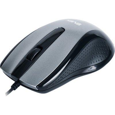Мышь SVEN RX-515 Silent (SV-03200515UGS)Мыши SVEN<br>Высокочувствительная мышь Sven RX-515 хороша в работе практически на любой поверхности, быстрая и тихая - что еще нужно опытному пользователю? В числе особенностей: разрешающая способность 800/1600 dpi, высокая скорость работы и подключение по USB.<br>