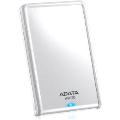 Внешний жесткий диск A-Data HV620 1TB белый (AHV620-1TU3-CWH)Внешние жесткие диски A-Data<br>ADATA DashDrive HV620 1TB - это внешний жесткий диск со сверхскоростным интерфейсом USB 3.0. Устройство оснащено светодиодным индикатором, который показывает состояние записи и чтения данных. Это помогает избежать разъединения во время передачи данных и утери информации. Глянцевая поверхность подчер ...<br>