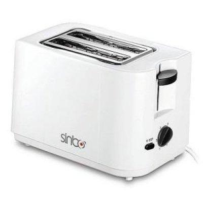 Тостер Sinbo ST 2411 белый (ST 2411 белый)Тостеры Sinbo<br>мощность 700Вт, отделений- 2, степеней обжаривания- 6, разморозка и обжаривание, функция «подогрев», цвет — белый<br>