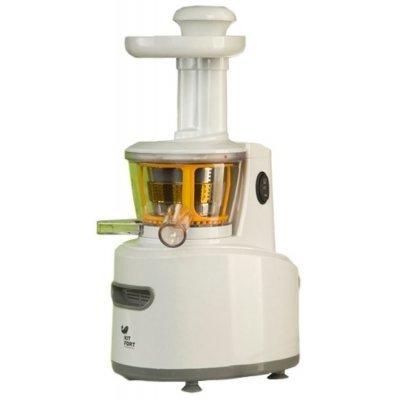 Соковыжималка Kitfort КТ-1101 (КТ-1101)Соковыжималки Kitfort<br>тип: шнековая; мощность: 150Вт; количество скоростей: 1; прямая подача сока; щетка для чистки; материал корпуса: пластик; цвет: белый<br>