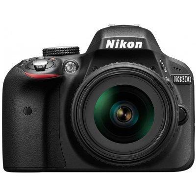 Цифровая фотокамера Nikon D3300 KIT black (VBA390K005) nikon d5300 18 105 vr kit black