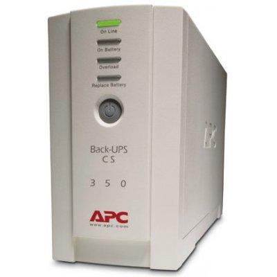 Источник бесперебойного питания APC Back-UPS CS 350 USB/Serial (BK350EI)Источники бесперебойного питания APC<br>350VA/210W, 230V, USB, Data line surge protection, user repl. batt., PowerChute<br>