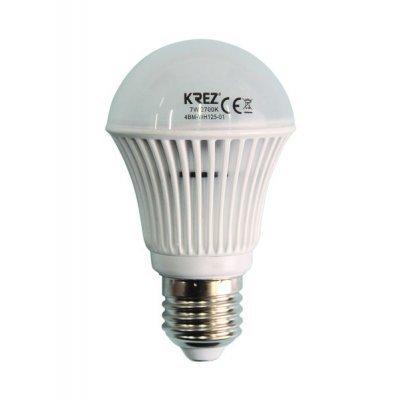Светодиодная лампа KREZ Light 7W (4BM-WH125-01)Лампы светодиодные KREZ<br>Светодиодные лампы KREZ, благодаря традиционной форме обычных ламп накаливания, подходят для большинства типов светильников и обеспечивают хороший световой поток. Лампы KREZ излучают теплый белый свет и могут использоваться для обычного или декоративного освещения внутри помещений. Лампы KREZ устойч ...<br>