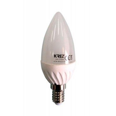 Светодиодная лампа KREZ Light 3W (4CM-WH223-01)Лампы светодиодные KREZ<br>Светодиодные лампы KREZ, благодаря традиционной форме обычных ламп накаливания, подходят для большинства типов светильников и обеспечивают хороший световой поток. Лампы KREZ излучают теплый белый свет и могут использоваться для обычного или декоративного освещения внутри помещений. Лампы KREZ устойч ...<br>