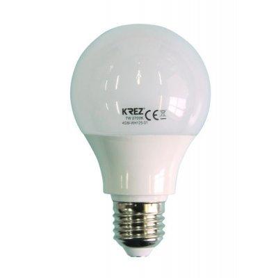 Светодиодная лампа KREZ Light 7W (4GM-WH125-01)Лампы светодиодные KREZ<br>Светодиодные лампы KREZ, благодаря традиционной форме обычных ламп накаливания, подходят для большинства типов светильников и обеспечивают хороший световой поток. Лампы KREZ излучают теплый белый свет и могут использоваться для обычного или декоративного освещения внутри помещений. Лампы KREZ устойч ...<br>