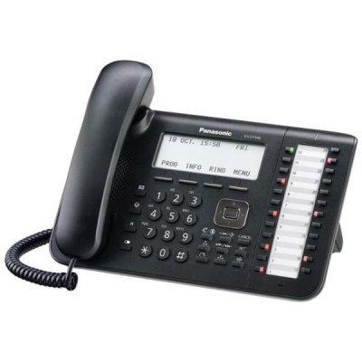 Системный телефон Panasonic KX-DT546RU (KX-DT546RU)Системные телефоны Panasonic<br>KX-DT546 - системный телефон Panasonic с ЖК-дисплеем с подсветкой, содержит 24 программируемые кнопки, поддерживает возможность подключения гарнитуры и телефонной трубки<br>