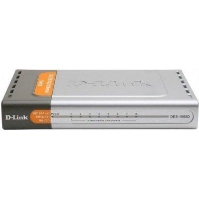 Коммутатор D-Link DES-1008D/L2A (DES-1008D/L2A)Коммутаторы D-Link<br>Коммутатор D-Link DES-1008D разработан для того, чтобы максимально упростить расширение или создание вашей сети. Он выполнен в пластиковом корпусе. Коммутатор D-Link DES-1008D не требует настройки и установки дополнительного программного обеспечения, он готов к работе сразу после подключения питания ...<br>