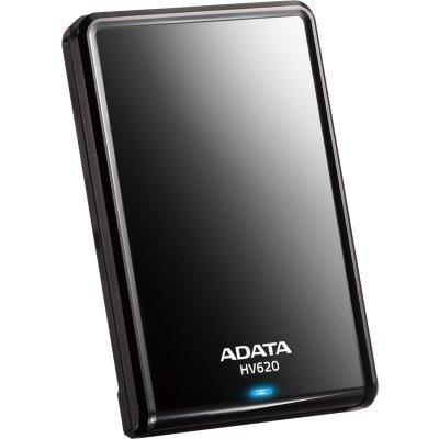 Внешний жесткий диск A-Data HV620 1TB черный (AHV620-1TU3-CBK)Внешние жесткие диски A-Data<br>ADATA DashDrive HV620 1TB - это внешний жесткий диск со сверхскоростным интерфейсом USB 3.0. Устройство оснащено светодиодным индикатором, который показывает состояние записи и чтения данных. Это помогает избежать разъединения во время передачи данных и утери информации. Глянцевая поверхность подчер ...<br>