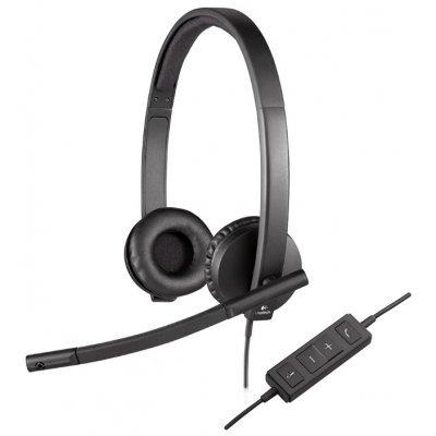 все цены на Компьютерная гарнитура Logitech USB Headset Stereo H570e (981-000575) онлайн