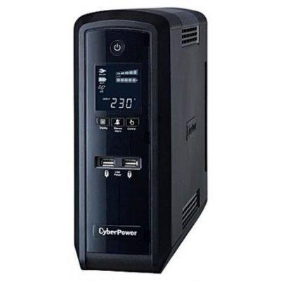 Источник бесперебойного питания CyberPower CP1500EPFCLCD 1500VA/900W (1PE-0000309-01G)Источники бесперебойного питания CyberPower<br>USB/RJ11/45 (3+3 EURO)<br>