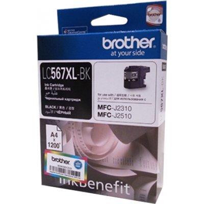 Картридж для струйных аппаратов Brother LC567XLBK черный (LC567XLBKBK)