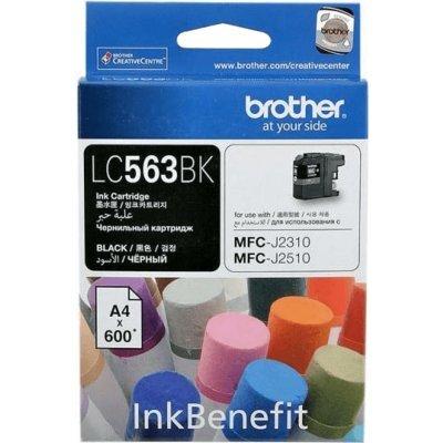 Картридж для струйных аппаратов Brother LC563BK черный (LC563BK)Картриджи для струйных аппаратов Brother<br>Brother LC563BK - необходимый расходный материал для вашей оргтехники. Он восстановит высокое качество печати и прослужит вам максимально долго. Советуем приобрести сразу несколько картриджей, чтобы не тратить время в будущем на повторный заказ и ожидание товара, когда ресурс предыдущей покупки подо ...<br>