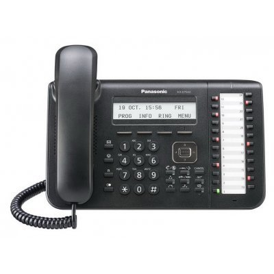 Системный телефон Panasonic KX-DT543RU-B черный (KX-DT543RU-B) системный телефон panasonic kx dt546rub черный [kx dt546ru b]