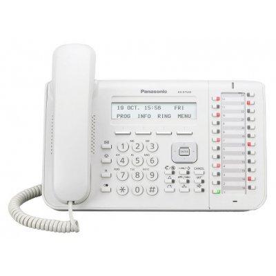 Системный телефон Panasonic KX-DT543RU (KX-DT543RU)Системные телефоны Panasonic<br>KX-DT543 - системный телефон Panasonic с ЖК-дисплеем с подсветкой, содержит 24 программируемые кнопки, поддерживает возможность подключения гарнитуры и телефонной трубки.<br>